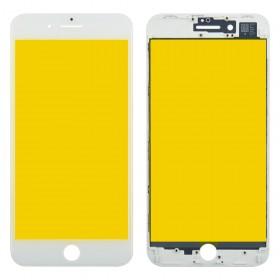 Стекло корпуса для iPhone 8 Plus,  цвет white, с рамкой