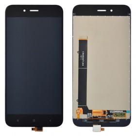 Дисплей Xiaomi Mi A1, Mi 5X с тачскрином в сборе,  цвет черный, без рамки, копия