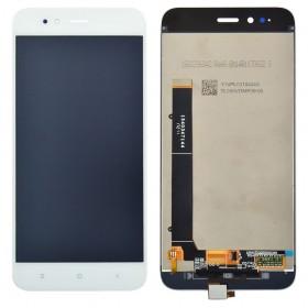 Дисплей Xiaomi Mi A1, Mi 5X с тачскрином в сборе, без рамки, копия,  цвет белый