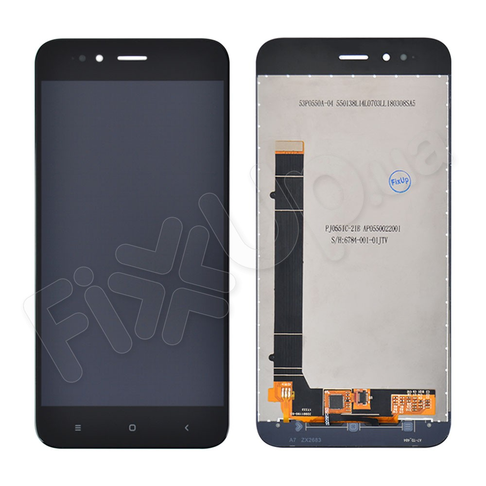Дисплей Xiaomi Mi A1, Mi 5X с тачскрином в сборе, цвет черный, копия высокого качества фото 1