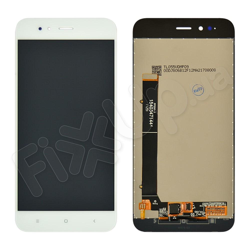 Дисплей для Xiaomi Mi A1/Mi 5X с тачскрином в сборе, цвет белый, копия высокого качества фото 1