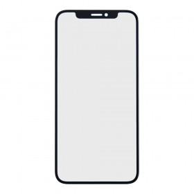 Стекло корпуса для iPhone X с OCA пленкой,  цвет black