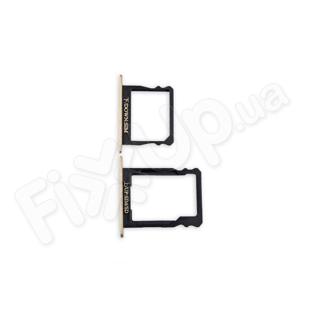 Лоток для сим карты и карты памяти Huawei P8 (GRA L09), цвет золотой фото 1