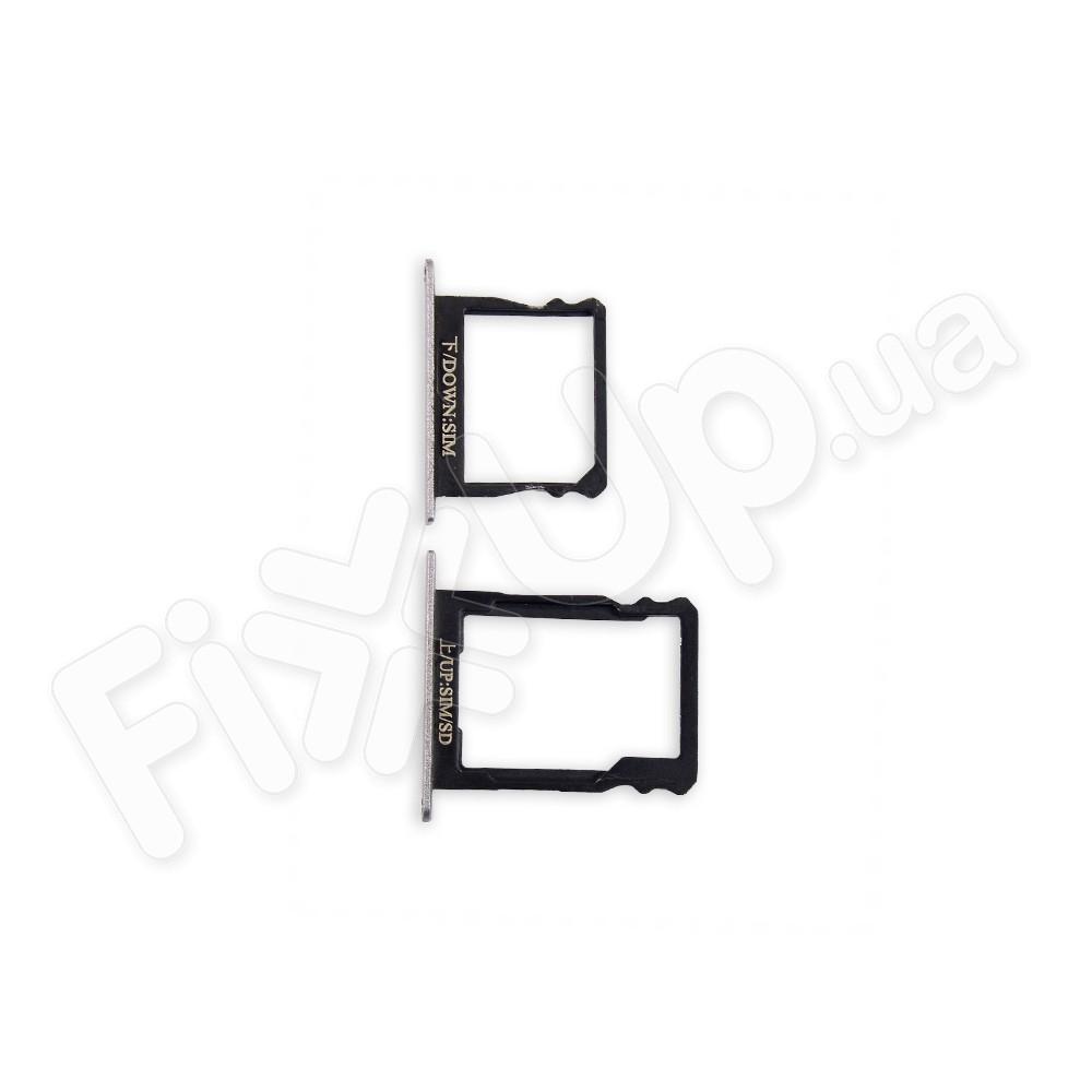 Лоток для сим карты и карты памяти Huawei P8 (GRA L09), цвет серый фото 1