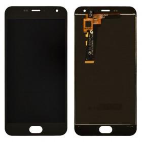 Дисплей Meizu M2, M2 mini с тачскрином в сборе, без рамки, копия высокого качества,  цвет черный