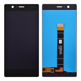 Дисплей Nokia 3 Dual Sim с тачскрином в сборе,  цвет black, без рамки