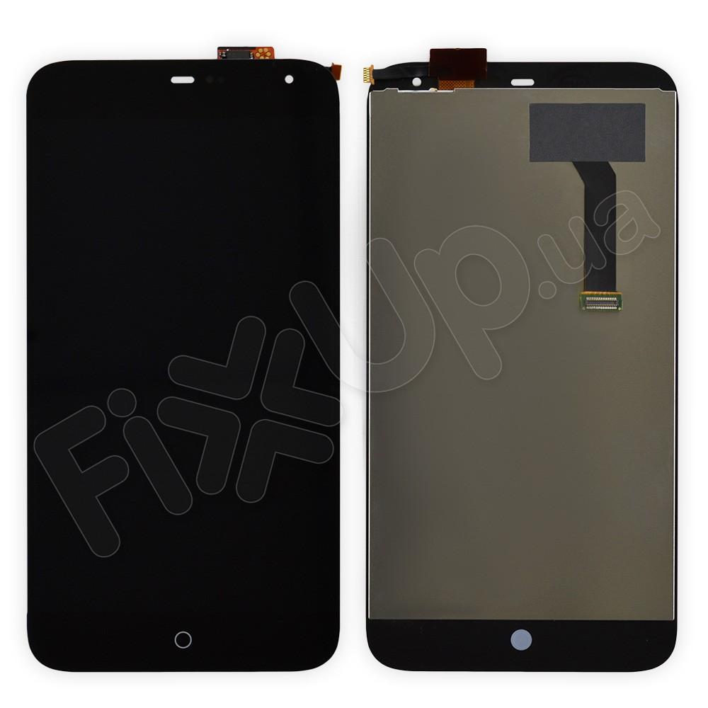 Дисплей Meizu MX3 с тачскрином в сборе, цвет черный, большая микросхема, фото 1