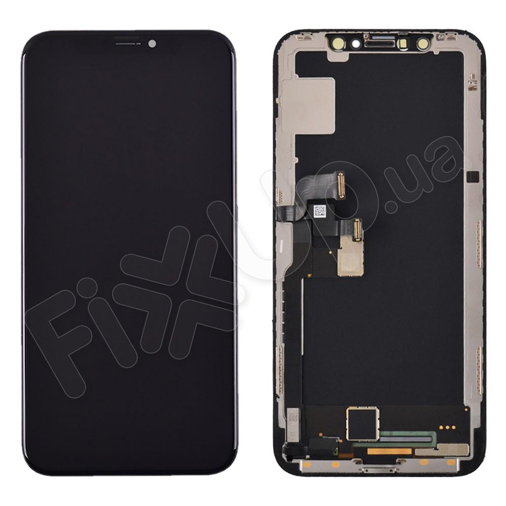 Дисплей для iPhone X (5.8) с тачскрином в сборе, цвет черный, original с разбора фото 1