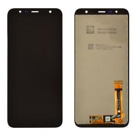 Дисплей для Samsung J610F/DS Galaxy J6+/J415F Galaxy J4+ (2018) с тачскрином в сборе,  цвет черный, оригинал замененное стекло, без рамки