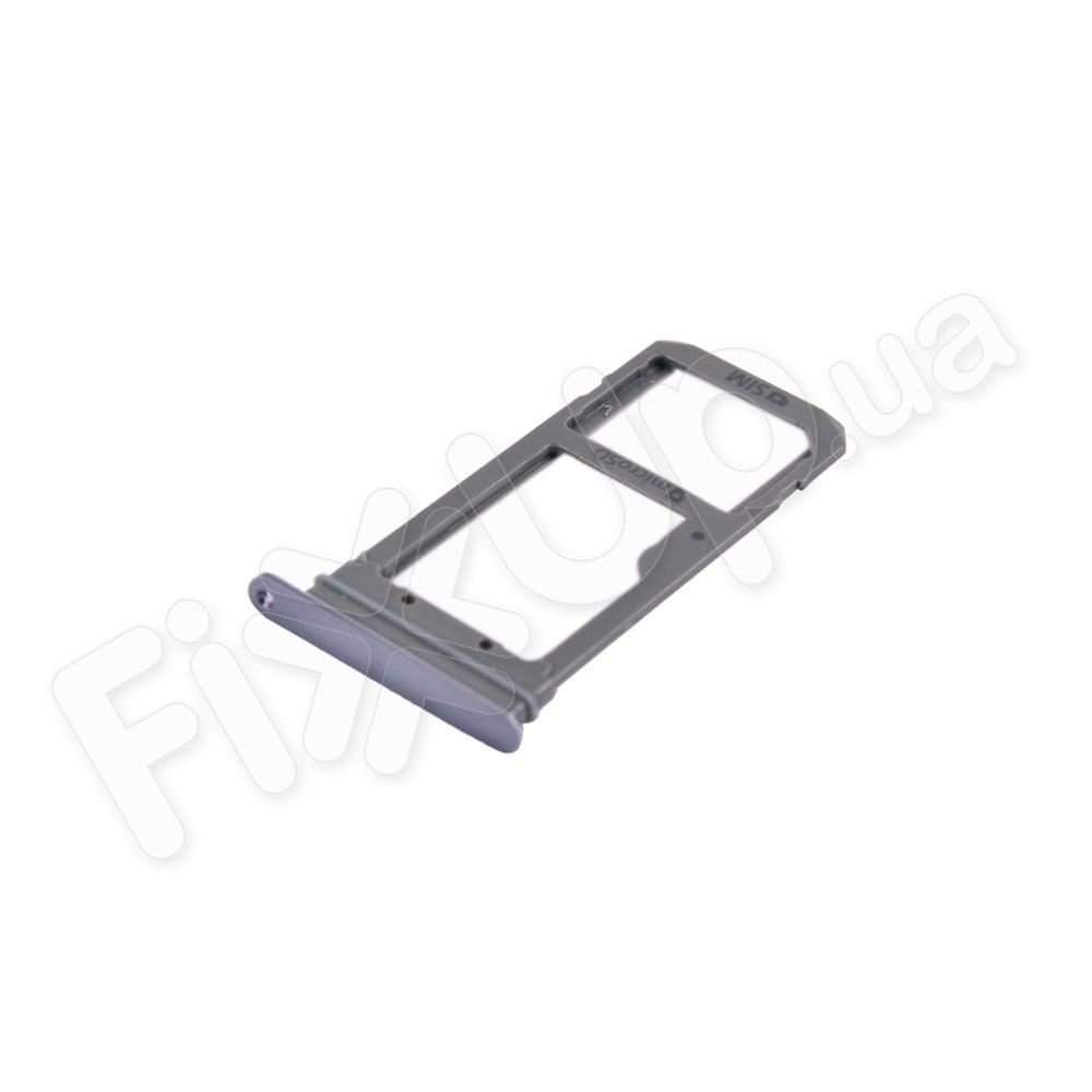 Держатель сим карты Samsung G935F Galaxy S7 Edge, цвет черный фото 1