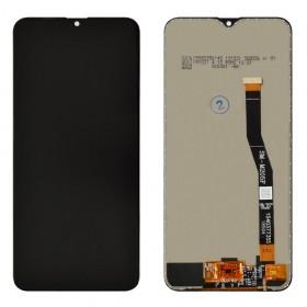 Дисплей для Samsung M205F /DS Galaxy M20 с тачскрином в сборе, без рамки, оригинал замененное стекло,  цвет черный