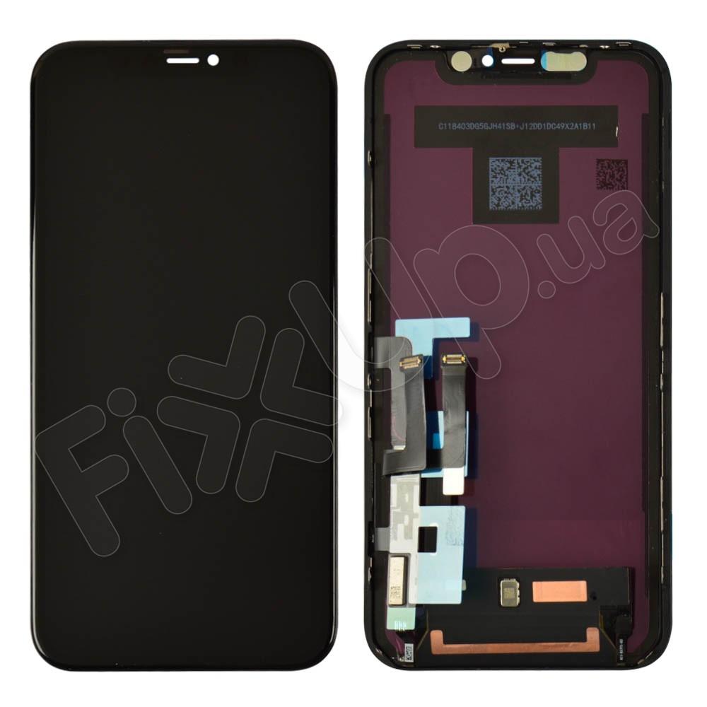 Дисплей для iPhone 11 (6.1) с тачскрином в сборе, цвет черный, оригинал фото 1