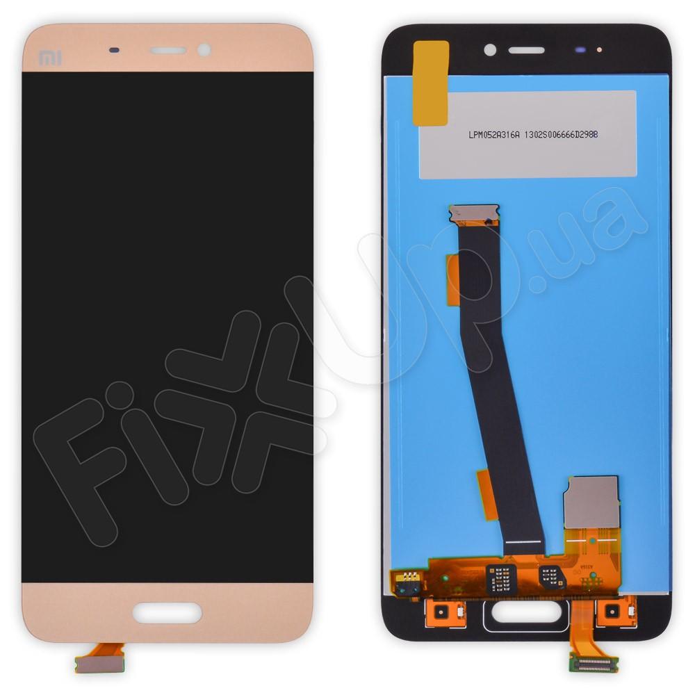 Дисплей Xiaomi Mi5/Mi5 Pro с тачскрином в сборе, цвет золотой, большая микросхема фото 1