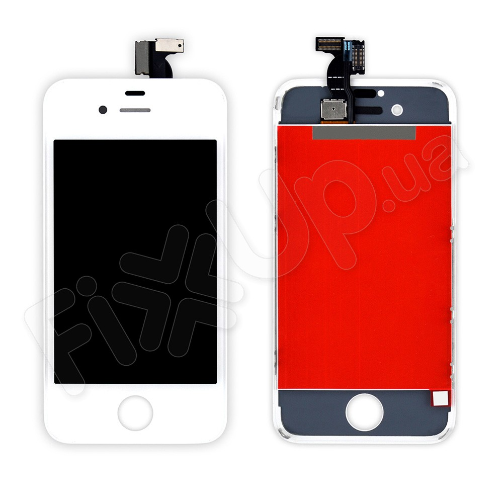 Дисплей iPhone 4 с тачскрином в сборе, цвет белый, копия высокого качества, TEST OK фото 1