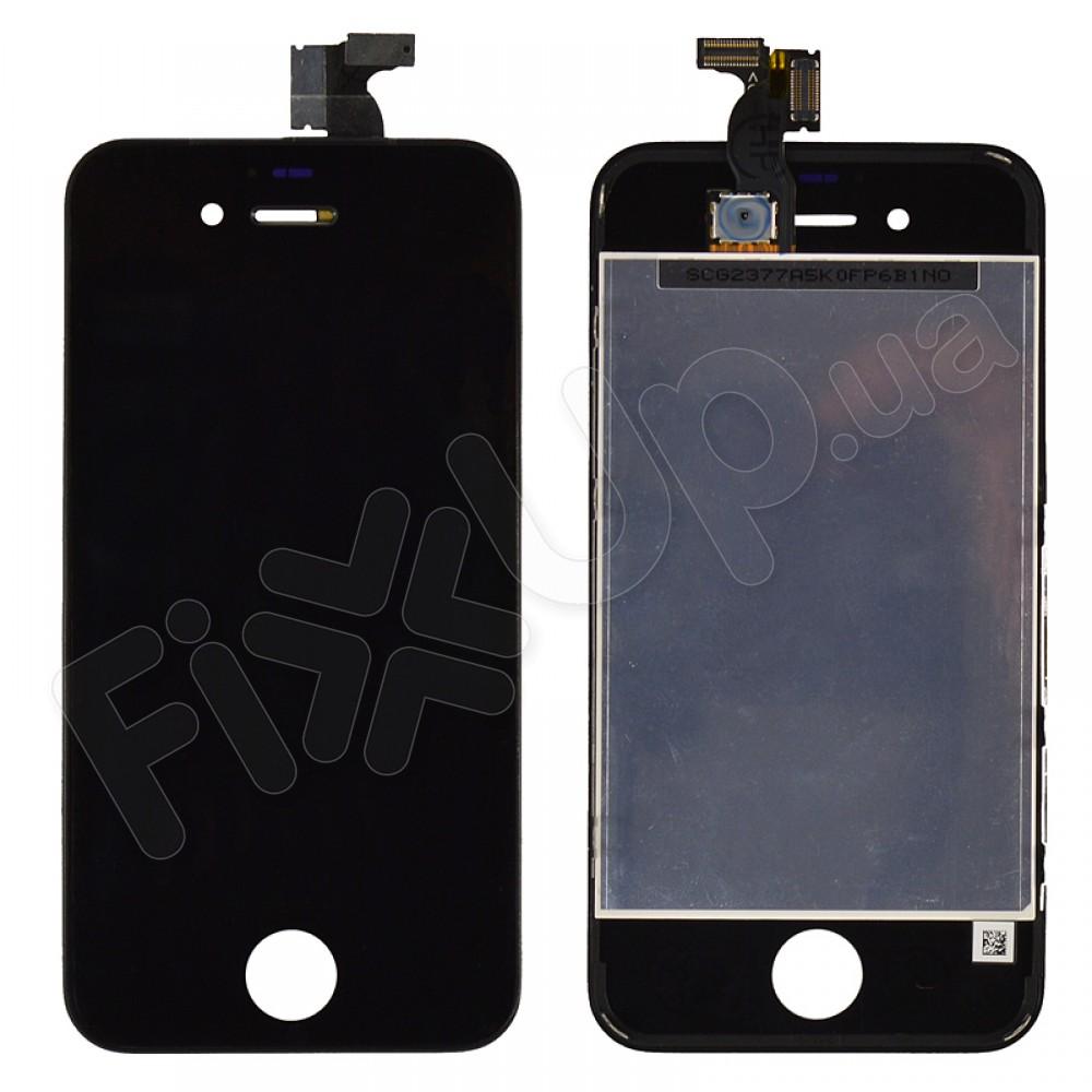 Дисплей iPhone 4 с тачскрином в сборе, цвет черный, TEST OK, копия высокого качества фото 1