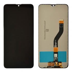 Дисплей для Samsung A207F /DS Galaxy A20s с тачскрином в сборе,  цвет черный, оригинал замененное стекло, без рамки