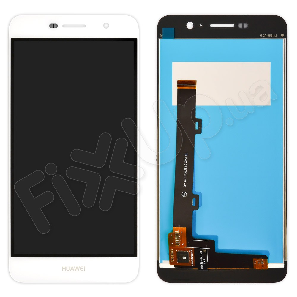 Дисплей Huawei Y6 Pro, Enjoy 5 (TIT-AL00/TIT-U02) с тачскрином в сборе, цвет белый, большая микросхема фото 1