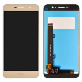 Дисплей Huawei Y6 Pro, Enjoy 5 (TIT-AL00/TIT-U02) с тачскрином в сборе,  цвет золотой, без рамки, копия