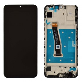 Дисплей для Huawei P Smart 2019 (POT-L21/POT-LX1) с тачскрином в сборе, копия высокого качества,  цвет черный, с рамкой