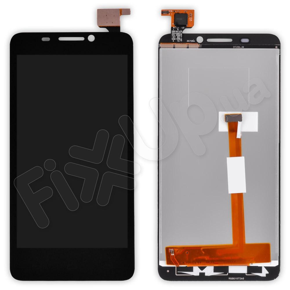 Дисплей Alcatel 6030d One Touch Idol с тачскрином в сборе, цвет черный, большая микросхема фото 1