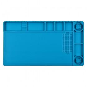 Коврик для рабочего стола 210*380 мм силиконовый,  цвет синий