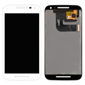 Дисплей Motorola XT1540 Moto G3 XT1541, XT1544, XT1548, XT1550 с тачскрином в сборе,  цвет белый, без рамки