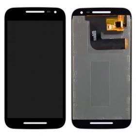 Дисплей Motorola XT1540 Moto G3 XT1541, XT1544, XT1548, XT1550 с тачскрином в сборе,  цвет черный, без рамки