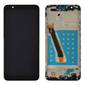 Дисплей для Huawei P Smart/Enjoy 7s (FIG-L31/FIG-LX1) с тачскрином в сборе,  цвет черный, с рамкой, копия высокого качества