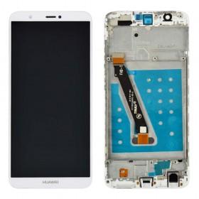 Дисплей для Huawei P Smart/Enjoy 7s (FIG-L31/FIG-LX1) с тачскрином в сборе,  цвет белый, с рамкой, копия высокого качества
