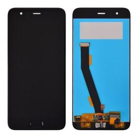 Дисплей для Xiaomi Mi6 с тачскрином в сборе, без рамки, с датчиком отпечатка,  цвет черный, копия высокого качества