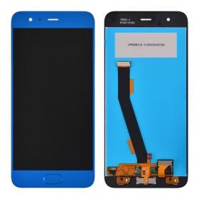 Дисплей для Xiaomi Mi6 с тачскрином в сборе, с датчиком отпечатка, без рамки, копия,  цвет синий