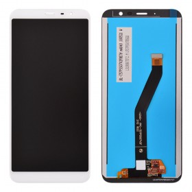 Дисплей для Meizu M6T с тачскрином в сборе,  цвет белый, без рамки, копия