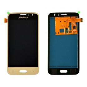 Дисплей Samsung Galaxy J1 J120H/DS (2016) с тачскрином в сборе, без рамки,  цвет gold, prc tft с регулировкой