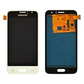 Дисплей Samsung Galaxy J1 J120H/DS (2016) с тачскрином в сборе,  цвет white, prc tft с регулировкой, без рамки