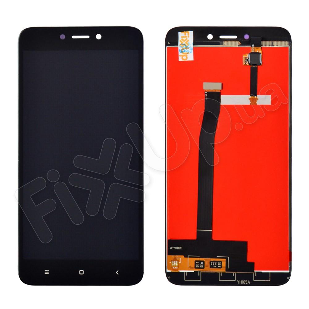 Дисплей Xiaomi Redmi 4X с тачскрином в сборе, hc, цвет черный фото 1