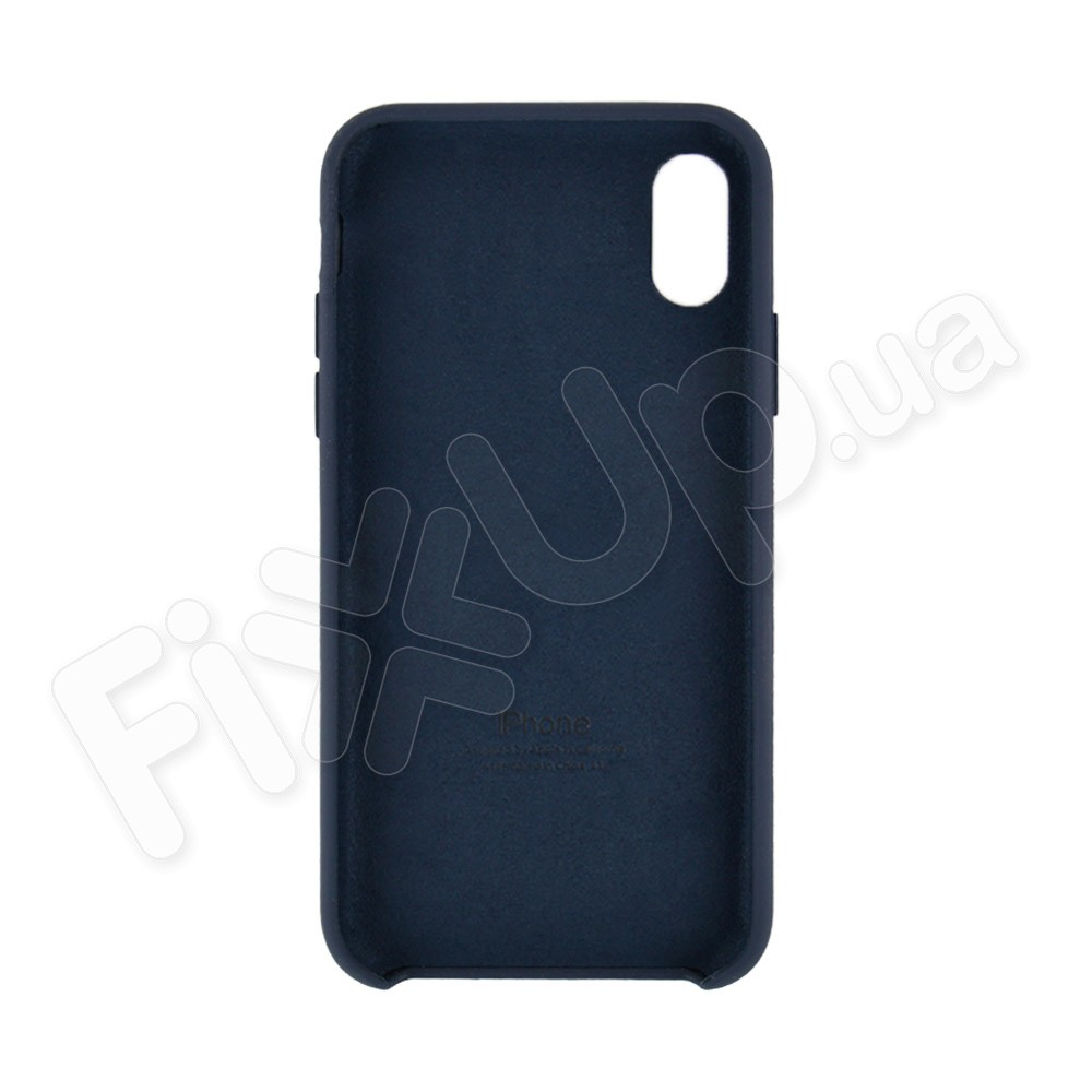 Силиконовый чехол для iPhone X, Xs (5.8), цвет dark blue фото 1