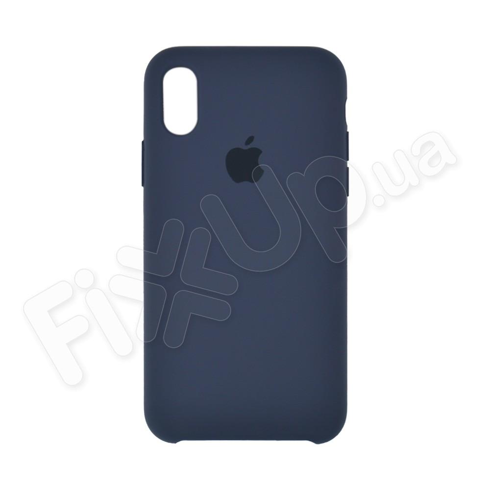 Силиконовый чехол для iPhone X, Xs (5.8), цвет dark blue фото 2