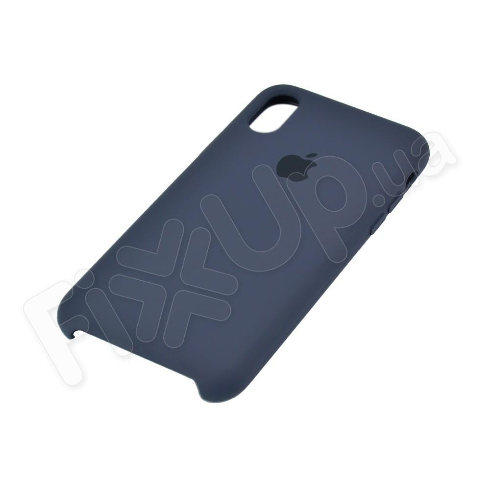 Силиконовый чехол для iPhone X, Xs (5.8), цвет dark blue фото 3