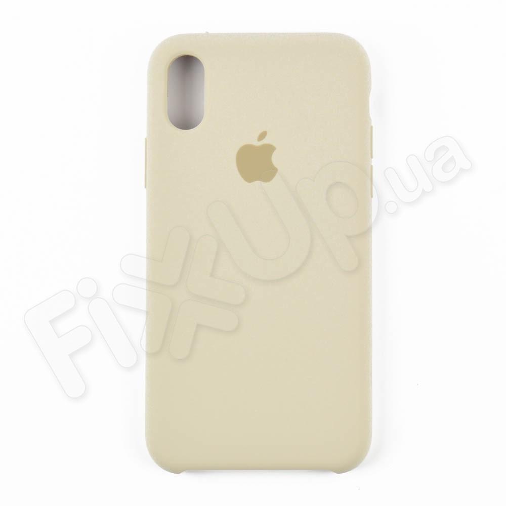 Силиконовый чехол для iPhone Xs (5.8), цвет бежевый фото 1