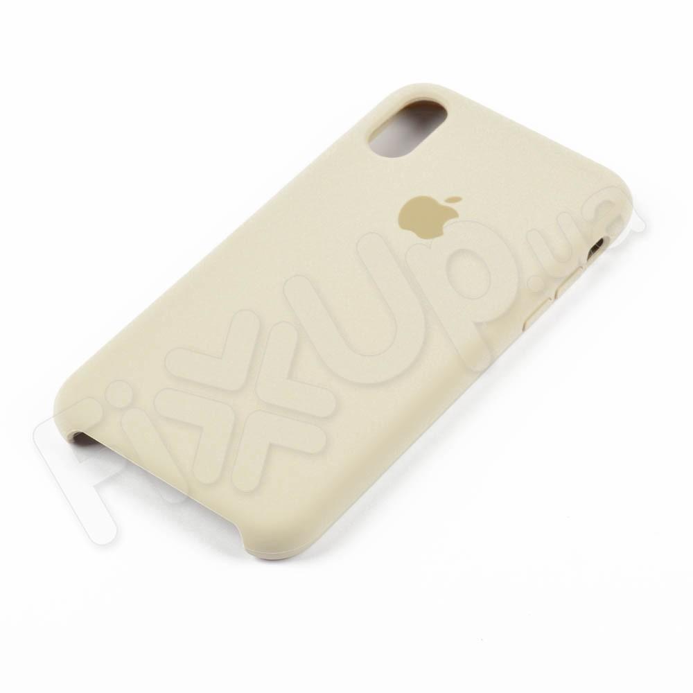 Силиконовый чехол для iPhone Xs (5.8), цвет бежевый фото 2