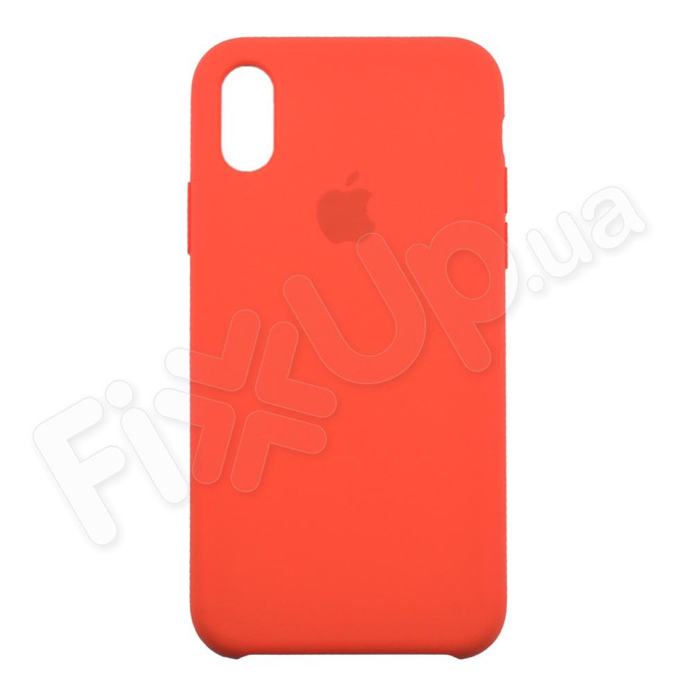Силиконовый чехол для iPhone Xs (5.8), цвет коралловый фото 1