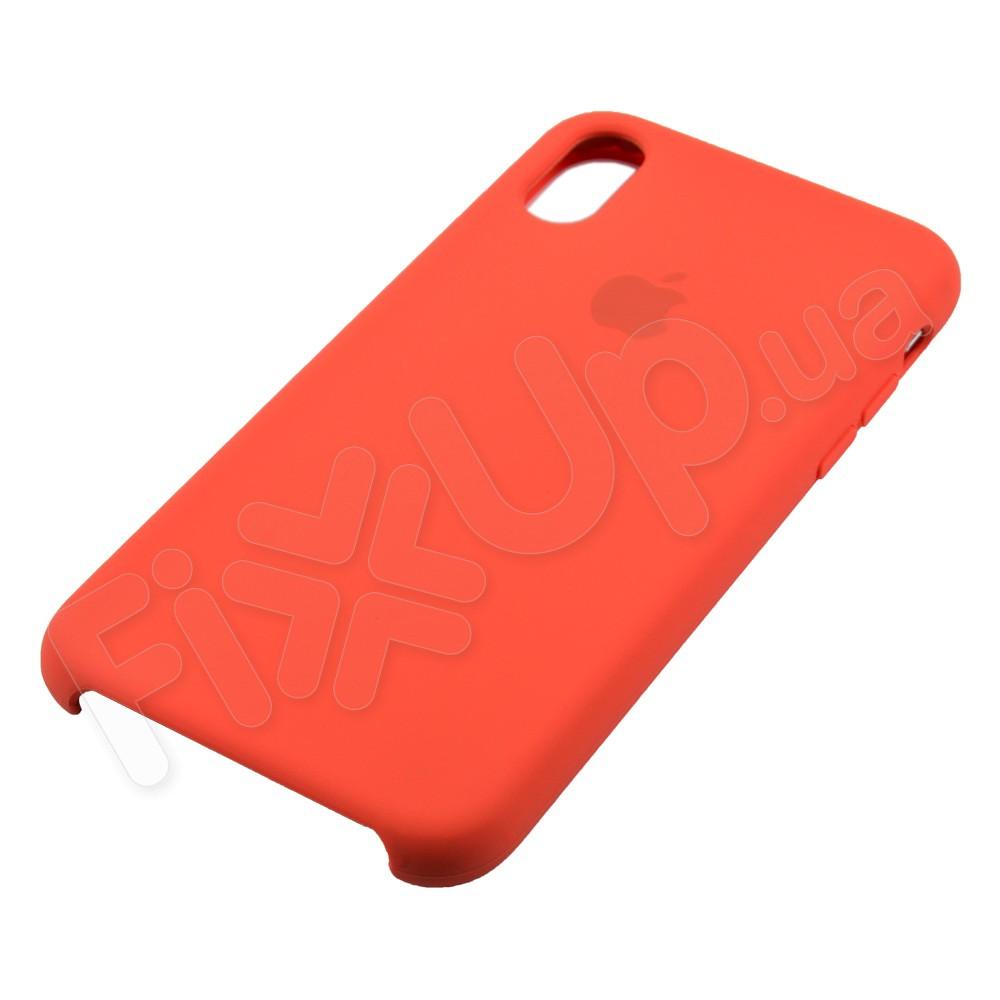 Силиконовый чехол для iPhone Xs (5.8), цвет коралловый фото 2