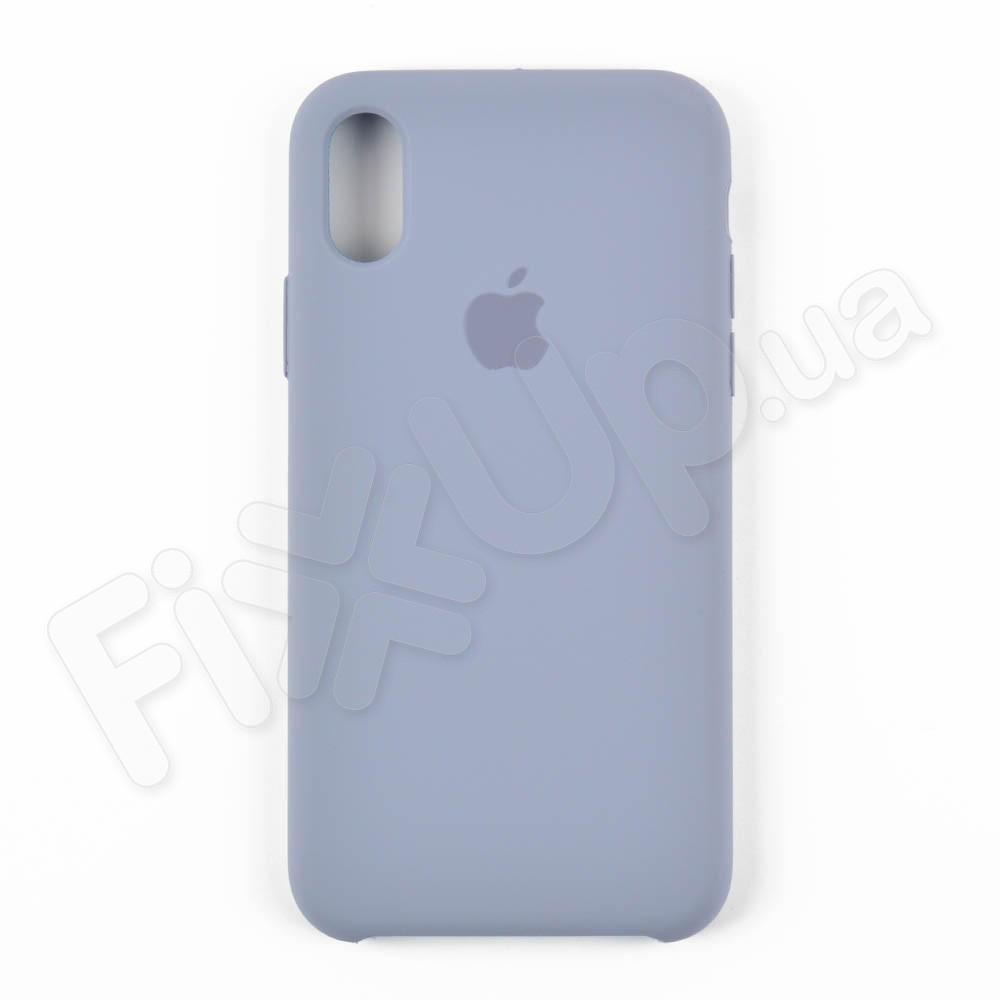 Силиконовый чехол для iPhone Xs (5.8), цвет grey blue фото 1