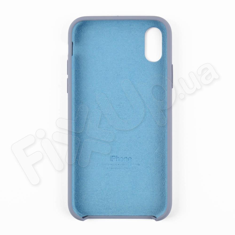 Силиконовый чехол для iPhone Xs (5.8), цвет grey blue фото 3
