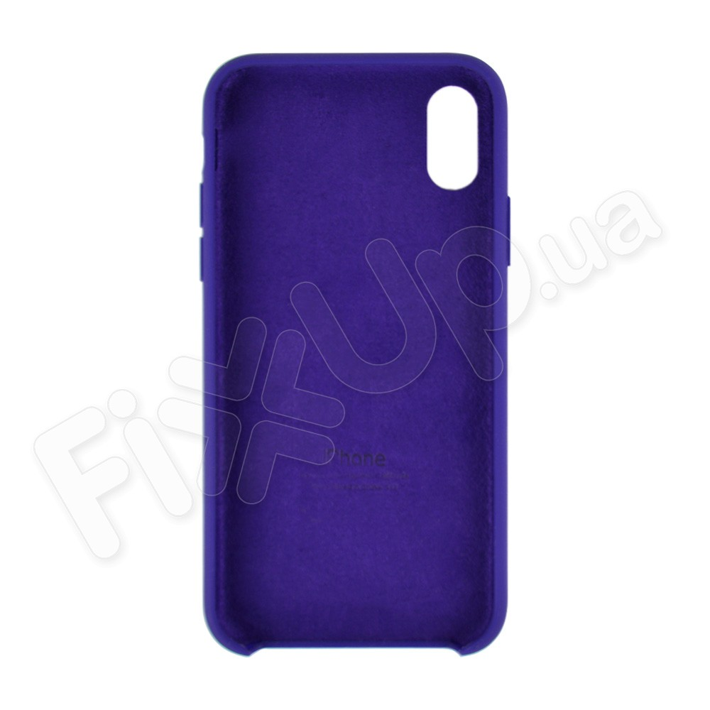 Силиконовый чехол для iPhone X, Xs (5.8), цвет violet фото 1