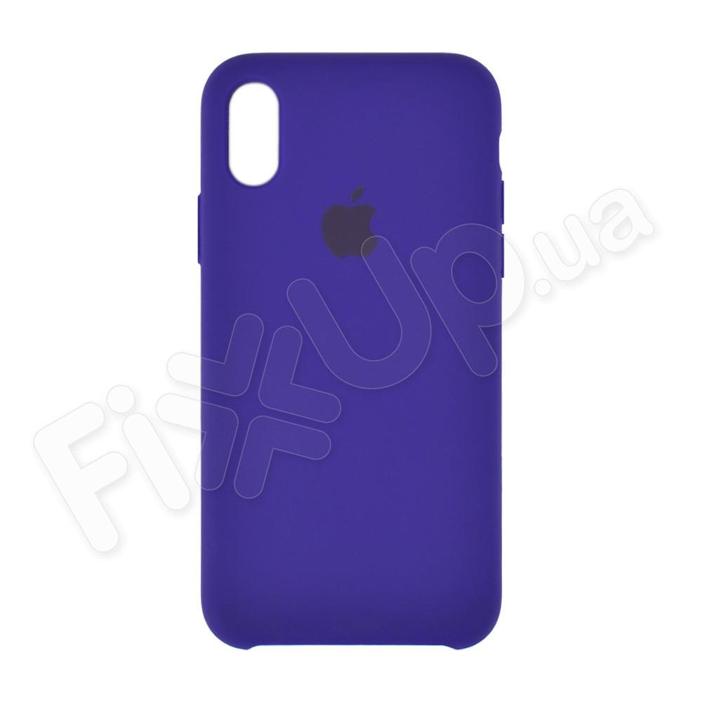 Силиконовый чехол для iPhone X, Xs (5.8), цвет violet фото 2