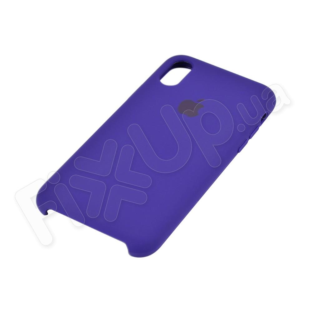 Силиконовый чехол для iPhone X, Xs (5.8), цвет violet фото 3