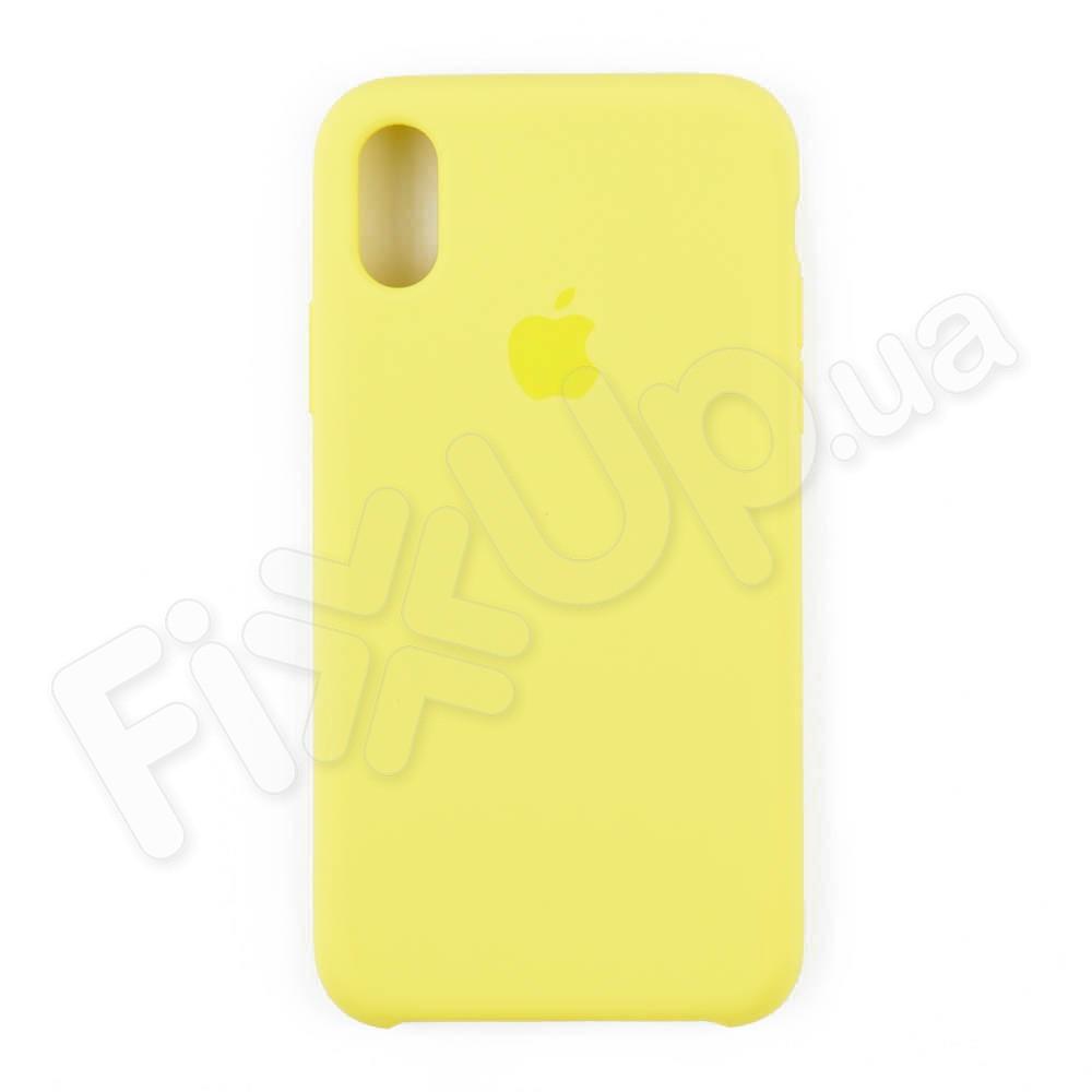 Силиконовый чехол для iPhone Xs (5.8), цвет lemonade фото 1