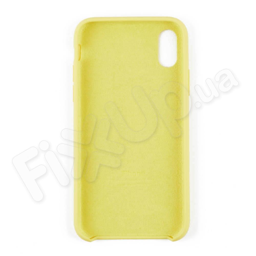 Силиконовый чехол для iPhone Xs (5.8), цвет lemonade фото 3