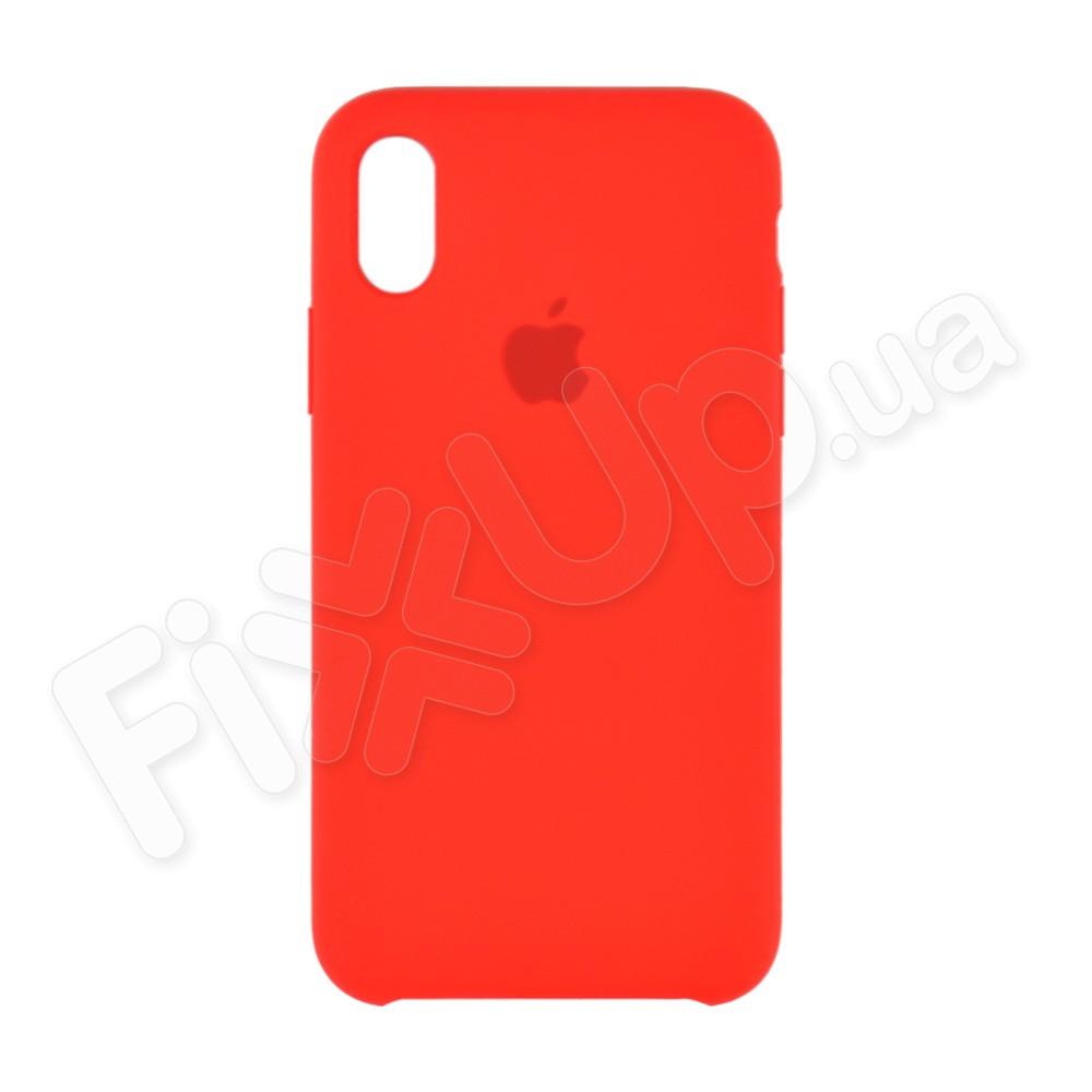 Силиконовый чехол для iPhone Xs (5.8), цвет красный фото 2